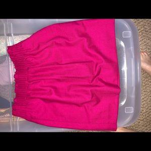 Berry/Fuscia JCrew Wool Paperbag Skirt